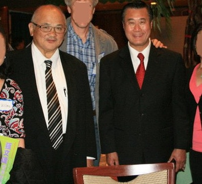 Dr. Wilson Lim, left, and Sen. Leland Yee on a lovely night out July 24, 2011. (Photo credit: Leland Yee/Facebook)