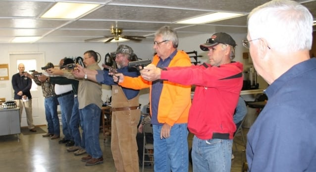 Students for the 16 hours of basic Illinois concealed carry classes are crowding ranges across the state (Photo credit: Southeastern Illinois College)