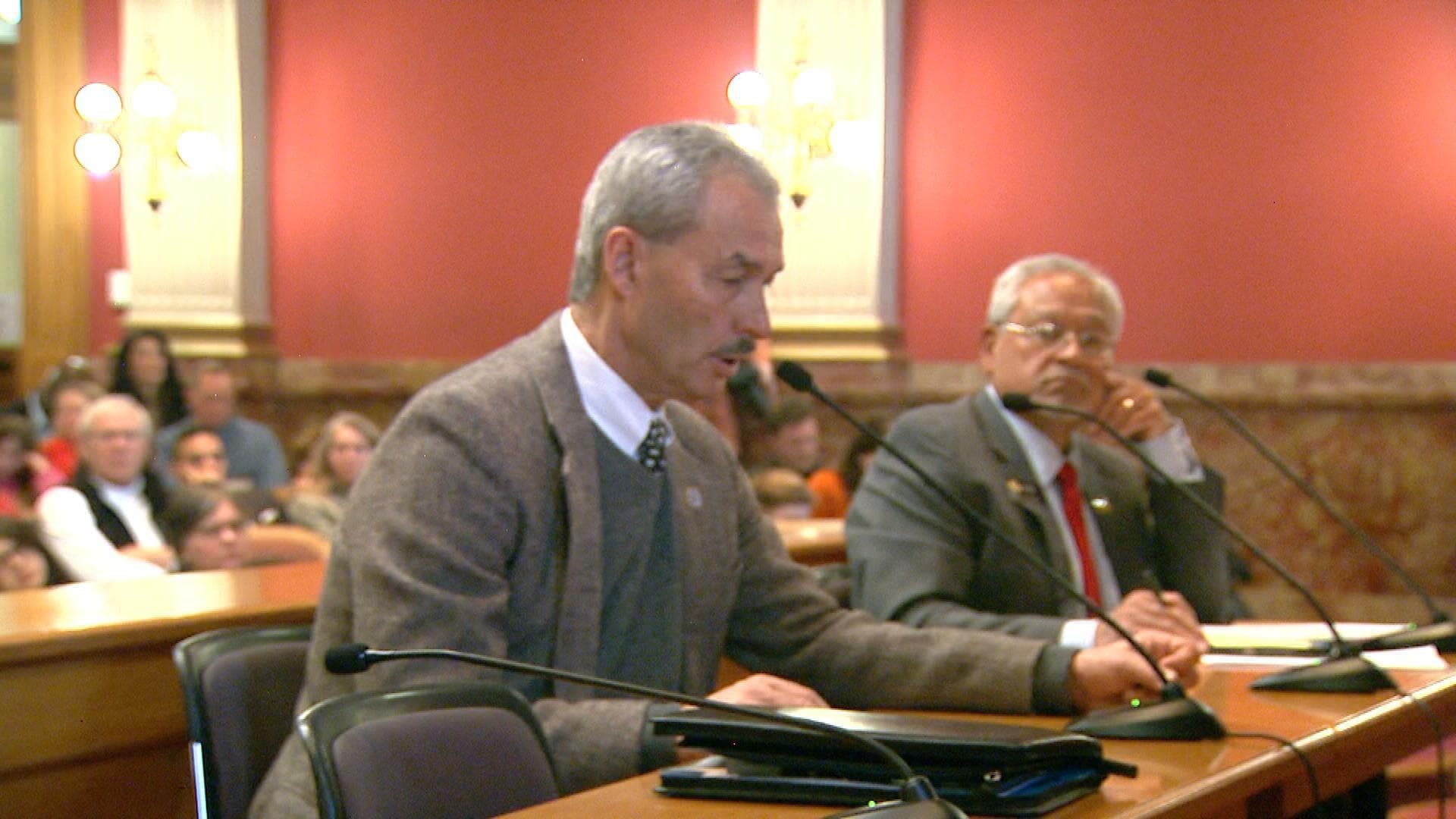 Colorado Bureau of Investigation Director Ron Sloan testified before a state senate committee that some 6200 background checks performed were due to the new enhanced law, which may not be correct. (Photo credit: CBS Denver)