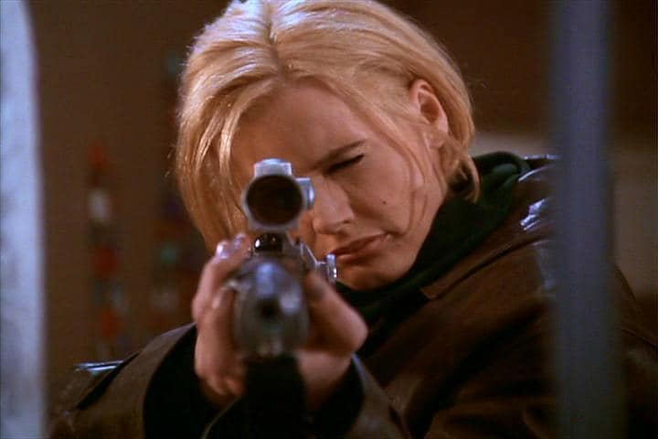 ruger mini-14 used in long kiss goodnight movie