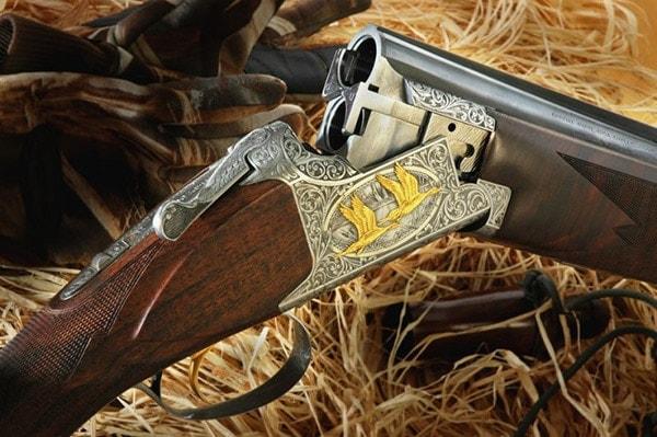 engraved superposed shotgun