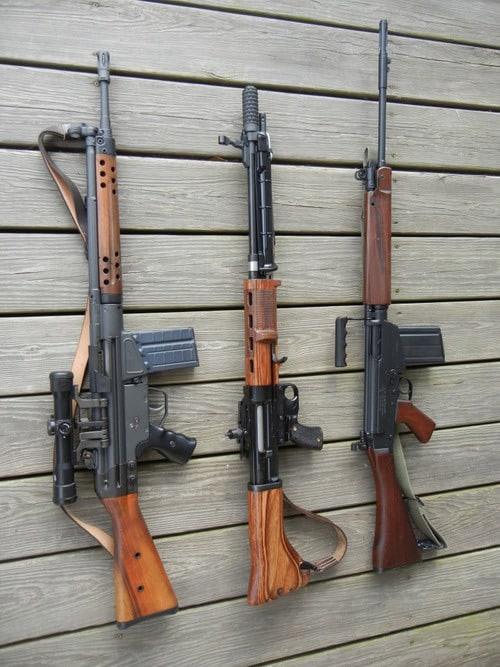 FN FAL comapred to G3 and FG42
