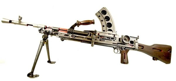 Cutaway Bren light machine gun