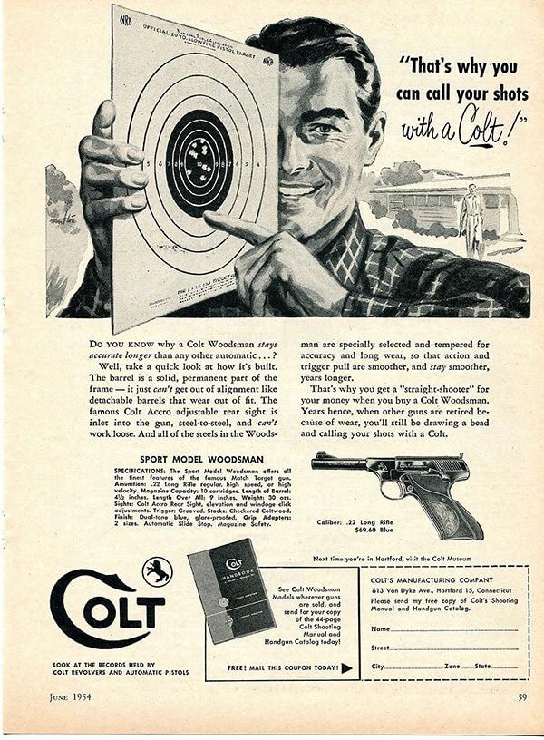1954 colt woodsman ad