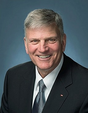 Rev. Franklin Graham, the president of Christian relief organization Samaritan's Purse.
