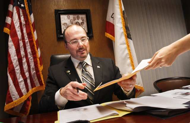 Asm. Tim Donnelly, (R) is proposing new legislation that would make California 'shall issue.' (Photo credit: Anne Cusack /LA Times)