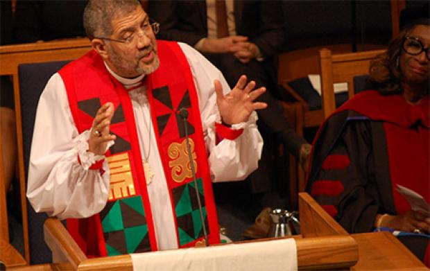 """Bishop Robert Wright, citing ,""""the normative understanding of the teachings of Jesus,"""" directed Episcopal churches in his diocese to bar guns from all but law enforcement Monday. (Photo credit: Anglicanink.com https://anglicanink.com)"""