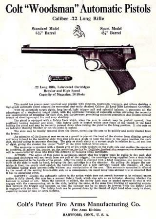 Colt Woodsman manual