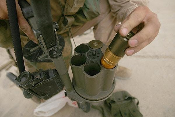 M32 grenade loading