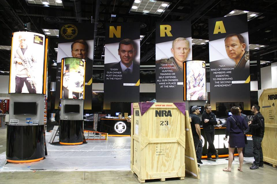 NRA News commentators talking shop before the show.