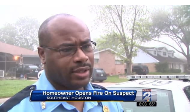 Sgt. Baron Glover of the Houston Police Department said that it was fortunate the homeowner was armed and able to protect himself and his wife. (Photo credit: Click 2 Houston)