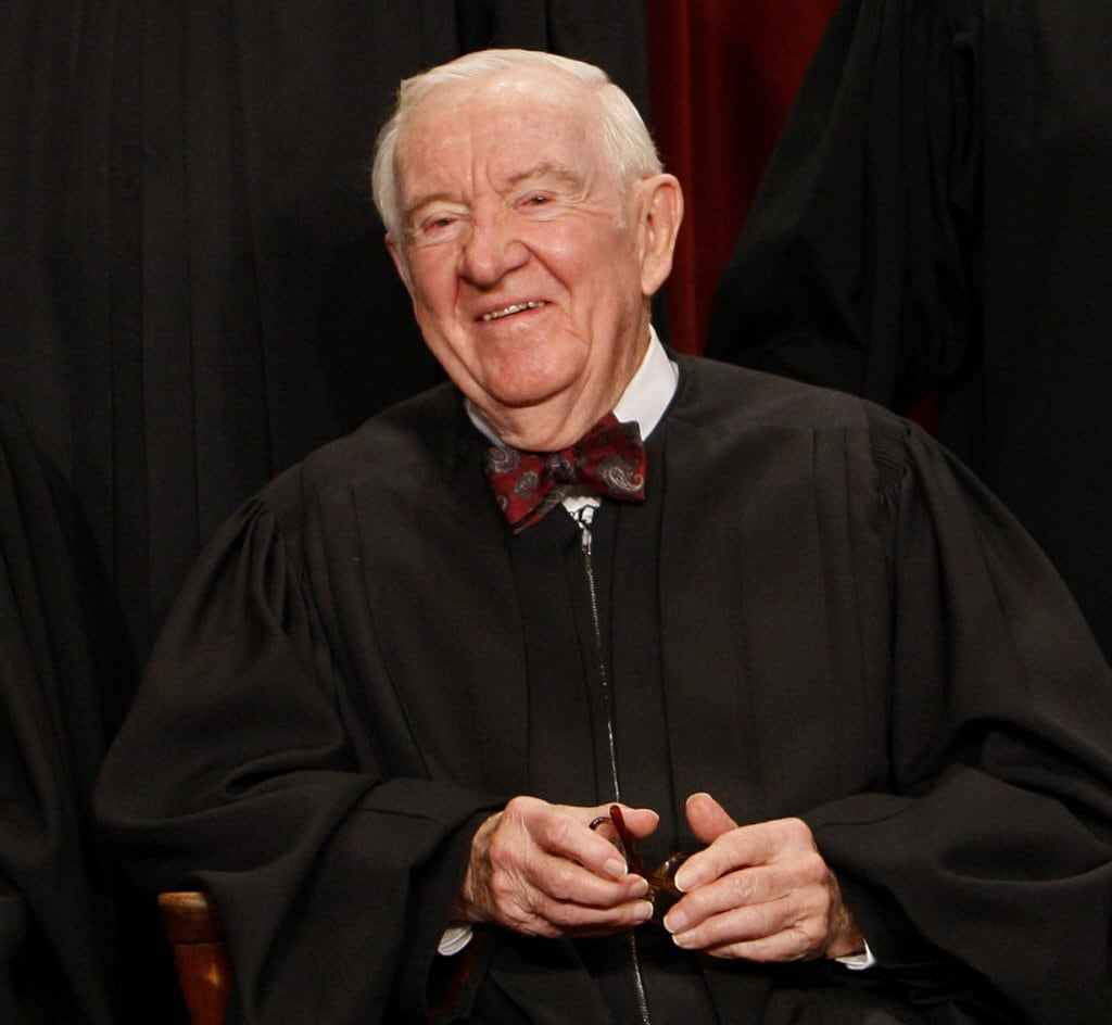 Justice John Paul Stevens served on the Supreme Court from 1975-2010.
