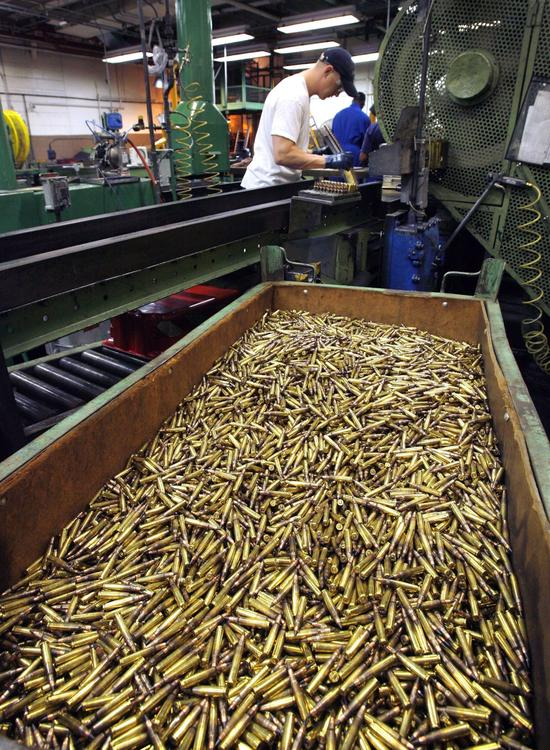 The Army, through its system of ammunition plants and contractors such as ATK's Lake City plant, shown here, is the primary manager for the DOD's small arms ammo. (Photo credit: John Sleezer/The Kansas City Star)