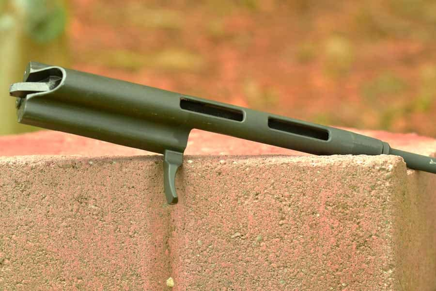 The lightened bolt carrier is a strange inclusion. (Photo by: Jim Grant)