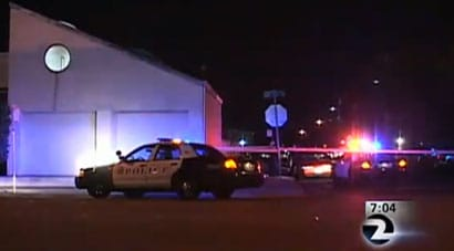The suspect apparently thought that the business was just a commercial property and did not realize that the owner lived in a unit behind the business. (Photo credit: KTVU)