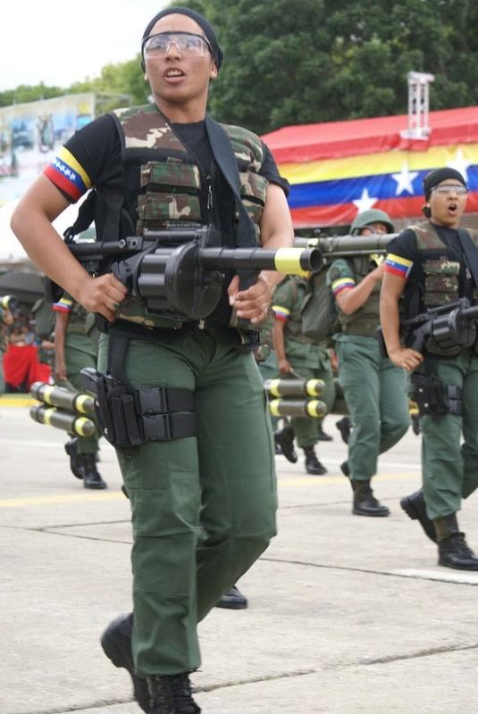 Female Venezuelan Marines MGL