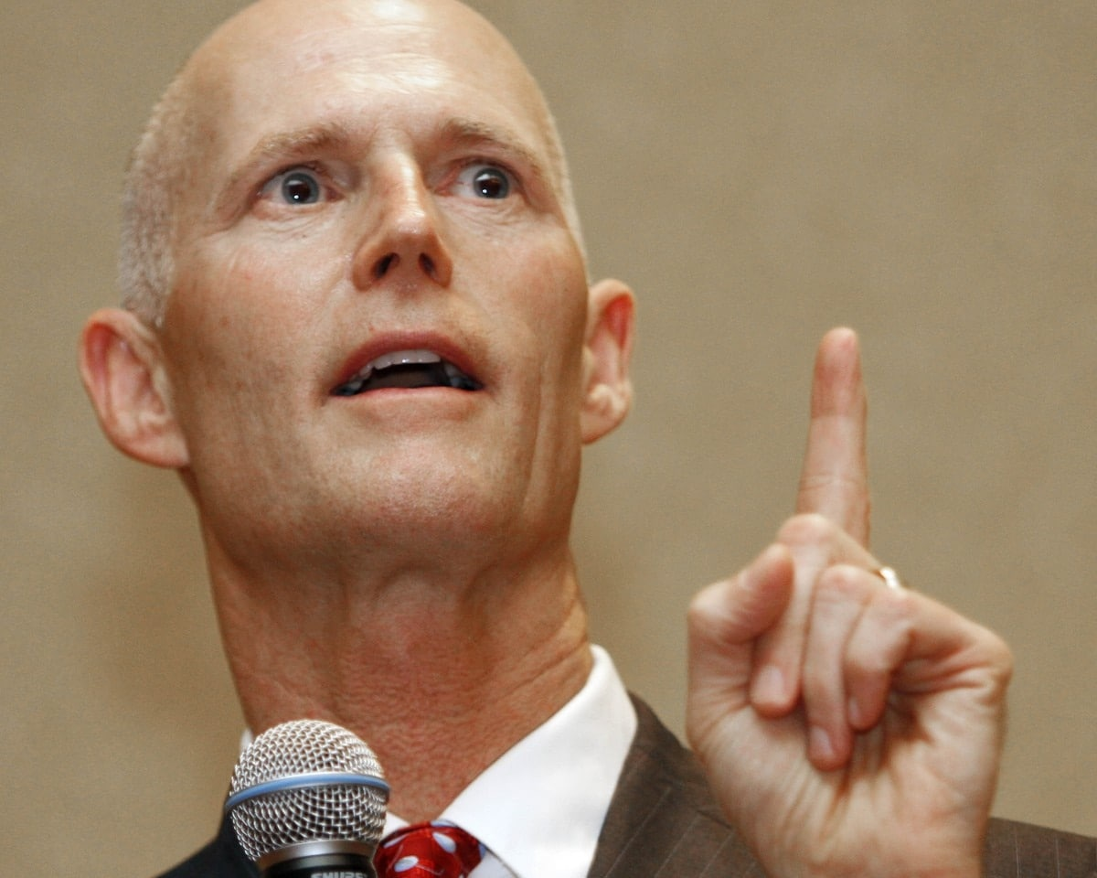 Florida Gov. Rick Scott is expected to sign the controversial Warning Shots bill into law in coming weeks. (Photo credit: Salon)