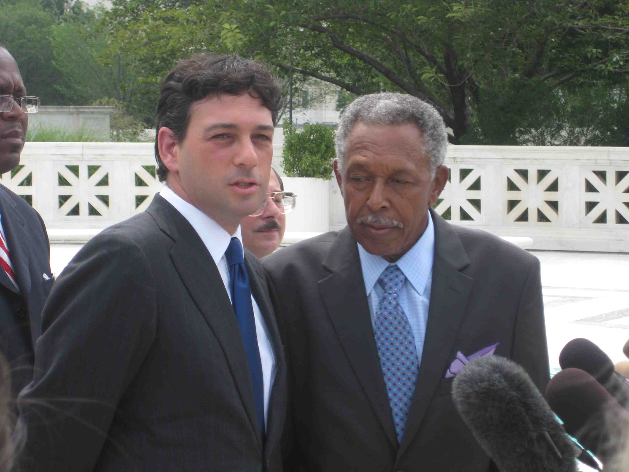 Professor Alan Gura and Mr. McDonald in 2010, taking their case to the highest court in the land. (Photo credit: AP)
