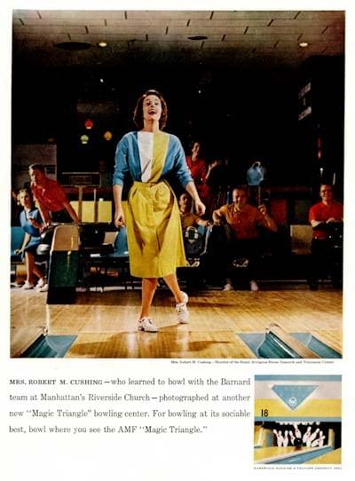 AMF bowling advertisement