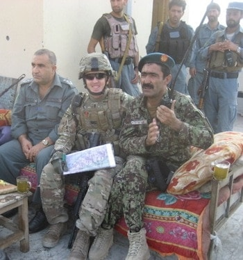 CPT Colby Krug advising a Combined Battalion level mission with the Afghan National Police and Afghan Army in Kunar Province, Afghanistan.