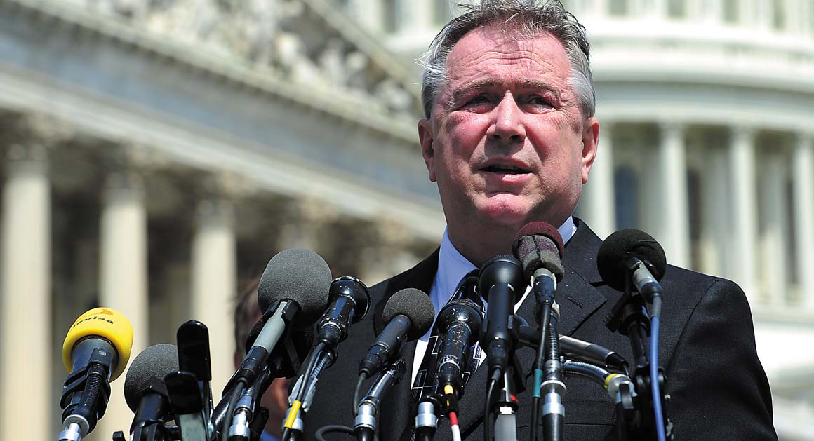 Rep. Steve Stockman (R-TX) wants to make sure federal grant dollars do not pay for state gun lists. (Photo credit: Politico)