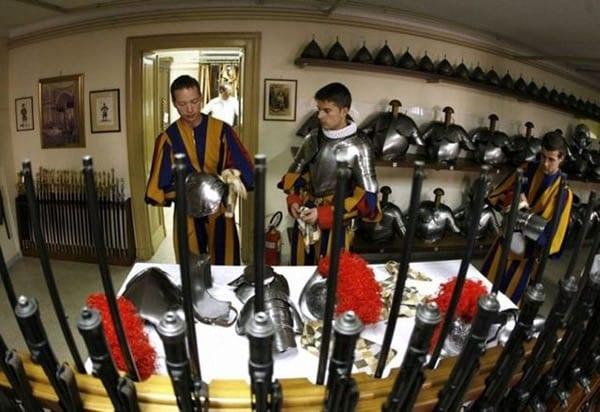 Swiss Guard prepping