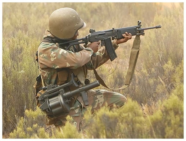 South African Galil R4 and an MGL