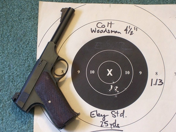 colt woodsman accurate