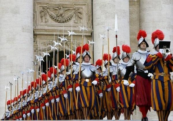 swiss guard halberds