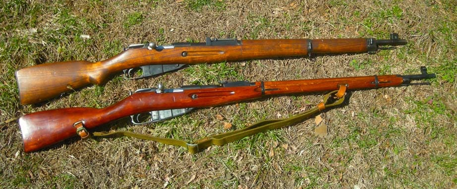 The M39 (top) vs the M91/30 (Photo by F. Borek)