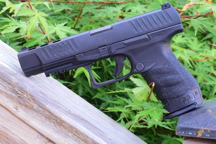 The PPQ M2's grip may look strange, but is very ergonomic. (Photo by Jim Grant)