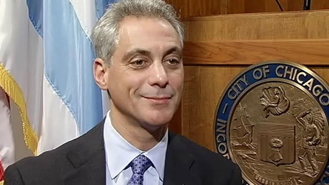 Mayor Rahm Emanuel wants Chicago's new gun stores to be subject to very strict standards. (Photo credit: NBC Chicago)