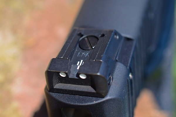 Sig adjustable three dot sight view