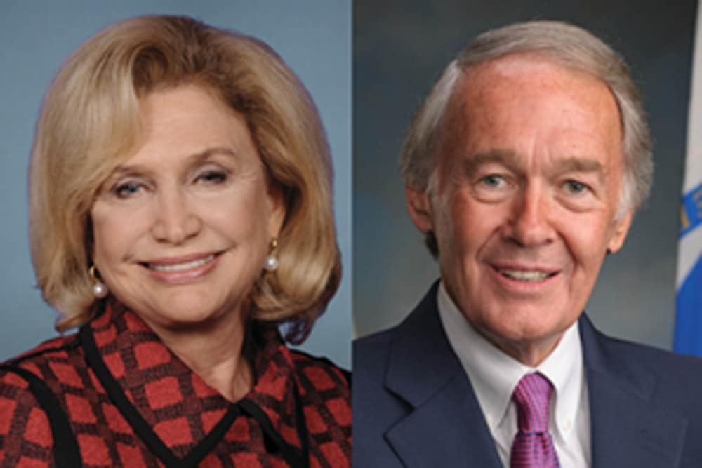 Sen. Ed Markey and Rep. Carolyn Maloney are asking for $10 million per year for the next six to fund CDC research on gun violence prevention and firearms safety. (Photo credit: AP composite)