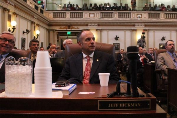 House Speaker Jeff Hickman, led that chamber in its first override vote of Gov. Fallin's administration. (Photo credit:  Joe Wertz/StateImpact Oklahoma)