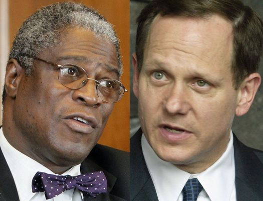 Kansas City Mayor Sly James (left) and St. Louis Mayor Francis Slay are in firm opposition of HB 1439. (Photo credit: Kansas City Star)