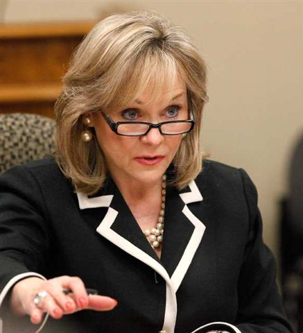 Gov. Mary Fallin's veto of a popular gun rights bill to speed up NFA items is halfway to an override. (Photo credit: LA Times)