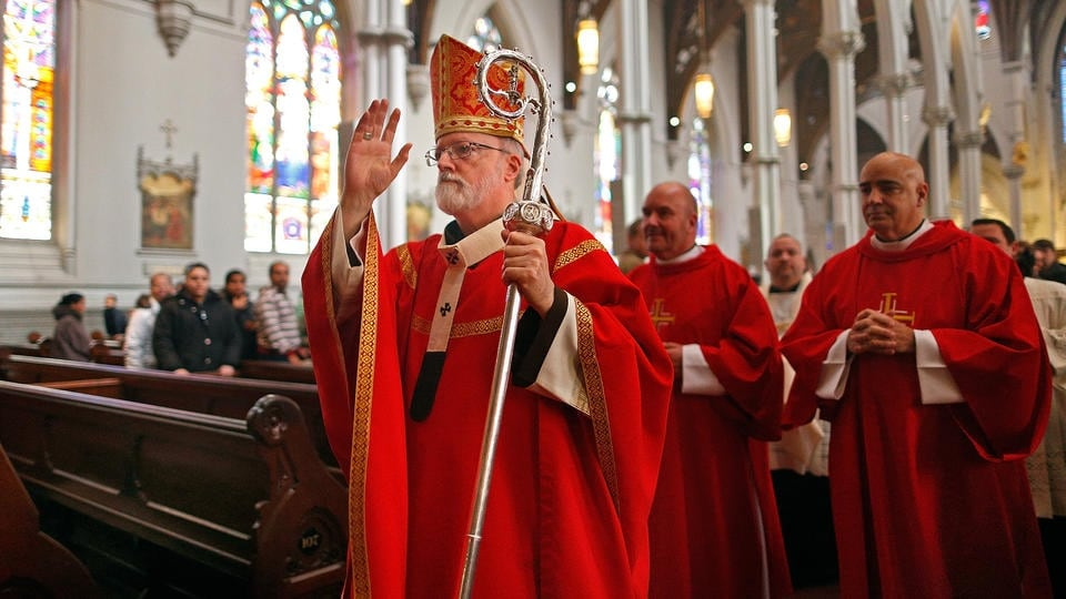 Cardinal Sean P. O'Malley, the Archbishop of Boston, and three bishops came out in support of a strict new gun control bill in Massachusetts this week. (Photo credit: Nancy Lane/Boston Herald)