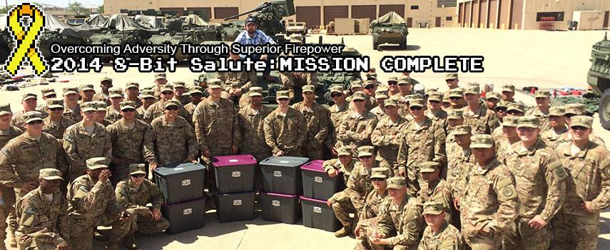 Operation Supply Drop delivers a cache of video games with funds raised during this year's 8-Bit Salute.