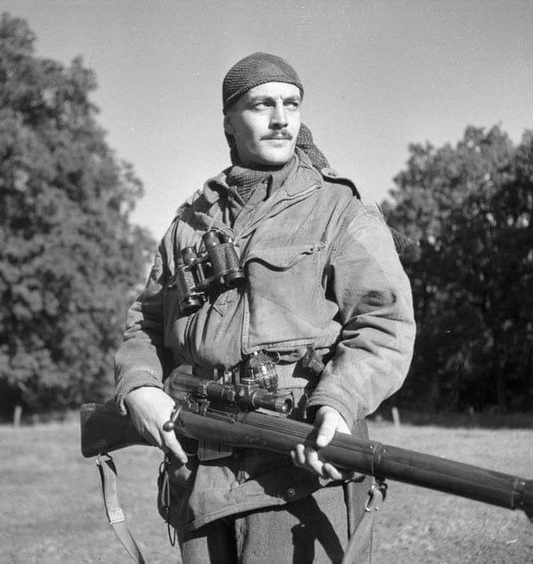 Canadian sniper SGT H.A. Marshall no. 4 Enfield sniper rifle