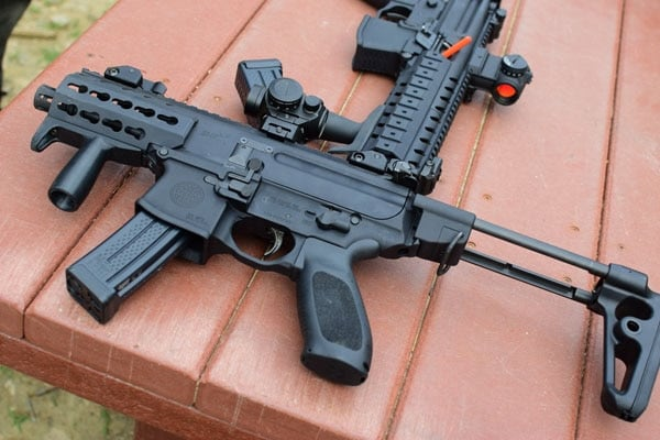 The ultra-compact MPX k is much easier to maneuver indoors than an AR15 (Photo by Jim Grant)