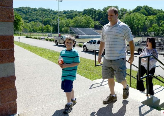 After being suspended for two days, Darin was allowed to return on the last day of school. (Photo credit: Trib Live)