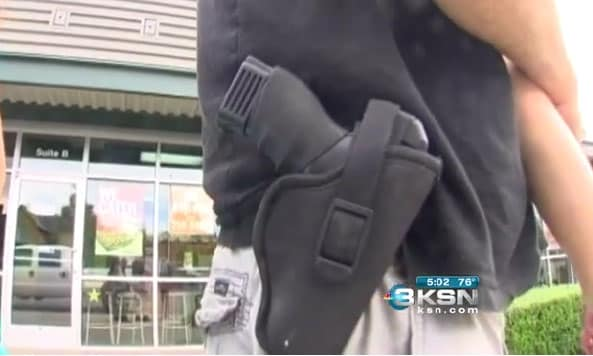 Starting Tuesday, some gun owners can legally carry in previously prohibited places, such as schools, churches and government buildings. (Photo credit: KSN)