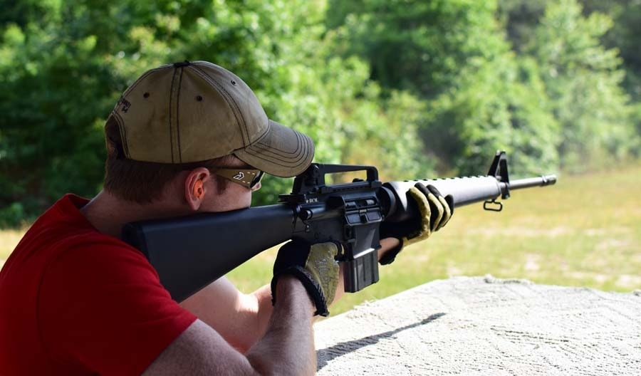 AR15's are accurate and easy to shoot, but out of the financial reach of many new shooters (Photo by Jim Grant)