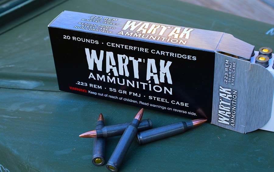 Wartak 223 may look like other steel-cased ammo, but runs like the military stuff (Photo by Jim Grant)