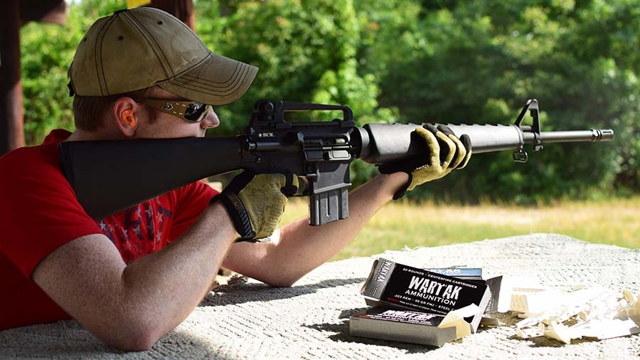 Steel-cased ammo that runs perfectly in my pseudo-retro AR15? Hell yeah (Photo by Jim Grant)