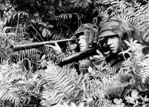 British sniper and spotter