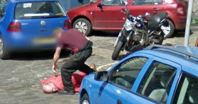 axe-murder captured on Google Street View (2)