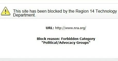 Lampart claims a number of pro-gun and conservative websites were blocked. (Photo credit: Campus Reform)
