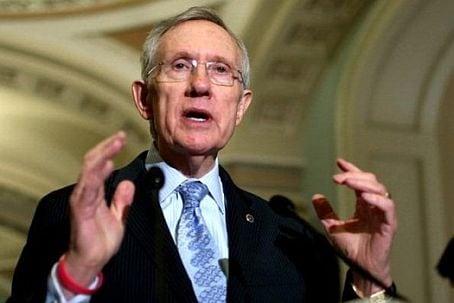 Senate Majority Leader Harry Reid (D-NV) called Monday for a return to the debate on universal background checks in Washington. (Photo credit: Washington Post)